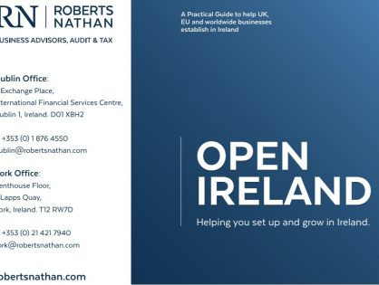 Roberts Nathan releases new Open Ireland brochure to showcase benefits of setting up and growing business in Ireland
