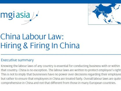 MGI Worldwide member firm LehmanBrown publishes white paper about China's hiring and firing labour law