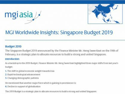 MGI Worldwide accountancy network member firm MGI N. Rajan Associates publishes white paper on the Singapore Budget 2019