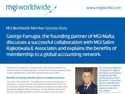 The founding partner of MGI Malta talks about the benefits of membership to MGI Worldwide accounting network and highlights the positive collaboration between member firms