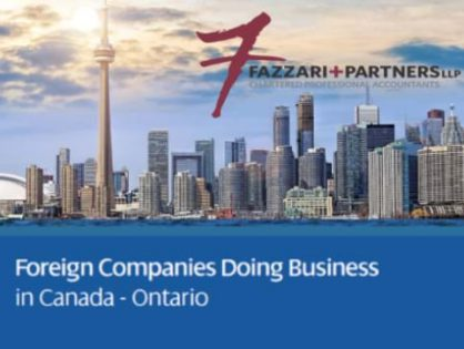 Fazzari + Partners LLP of MGI North America publishes new Doing Business in Canada Guide for MGI Worldwide global accounting network members