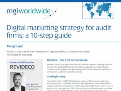 Sweden-based MGI Worldwide accountancy network member firm, Revideco, publishes white paper on digital marketing strategy implementation for audit firms