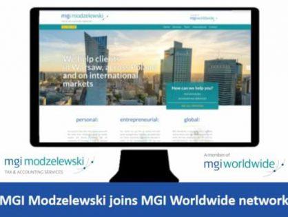 Poland-based MGI Modzelewski adopts MGI prefix and joins MGI Worldwide global accounting network