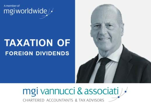 Pierpaolo Vannucci, from Italy-based member firm MGI Vannucci & Associati, publishes new article explaining the Taxation of Foreign Dividends in Italy