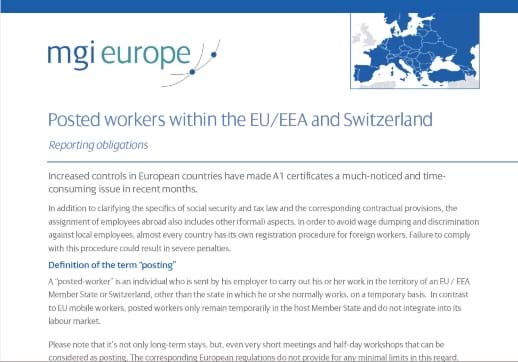 Are you up to date on the latest reporting obligations for posted workers within the EU?