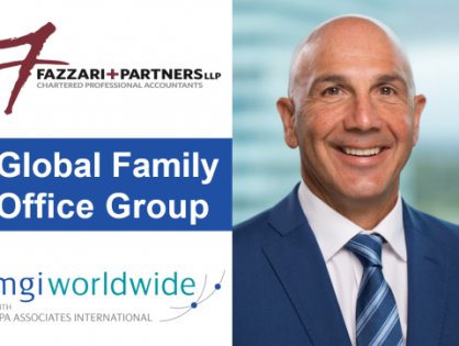 We're delighted to announce the newest member of the MGI Worldwide with CPAAI Global Family Office Group; Frank Fazzari of Fazzari + Partners LLP