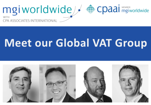 We are pleased to announce the launch of our first combined MGI Worldwide with CPAAI Global Specialist Group – see and learn more about our expert group of VAT Specialists!