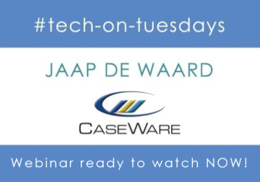 Calling all Auditors new to CaseWare! This webinar recording is for you. Learn how to optimise your workflow with Head of Business Development, Jaap de Waard – watch now!