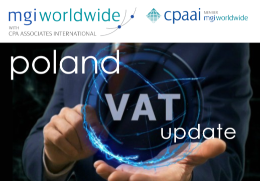 The Global VAT Specialist Group updates MGI Worldwide with CPAAI members on the VAT Refund in Poland