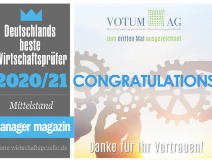 Congratulations to MGI Worldwide with CPAAI member firm Votum AG as it is named one of Germany's best auditors for the third time by Manager Magazin!