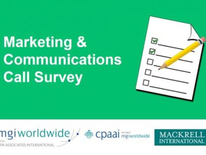 Newly formed MGI with CPAAI global Marketing & Communications group publishes survey results