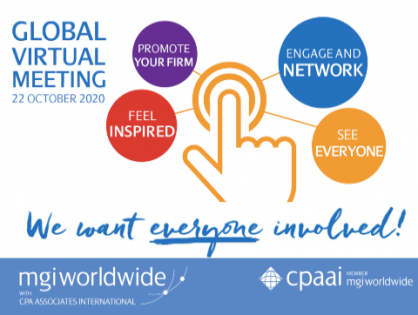 Register NOW for MGI Worldwide with CPAAI's Virtual Global Meeting - Everyone invited!
