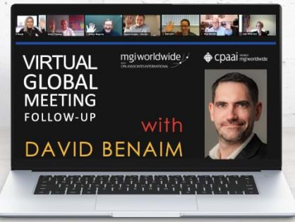 David Benaim talks about new features of Excel, Powerpoint and Sway in three engaging presentations during the MGI Worldwide CPAAI Virtual Global Meeting