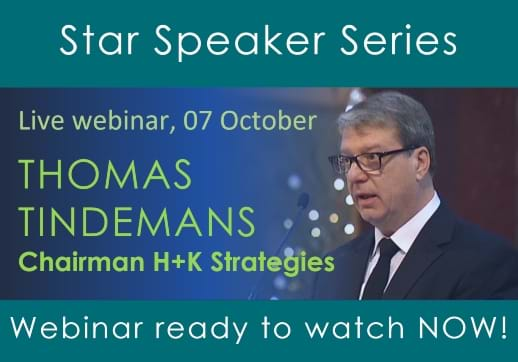 Hear our latest Star Speaker Thomas Tindemans discuss how the COVID-19 pandemic and BREXIT will reshape the European economic landscape. Webinar recording now available!