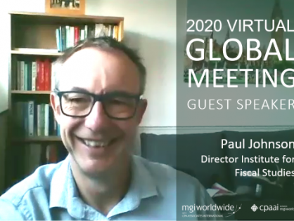 How will the world economy pay for Covid-19? Speaking at the MGI Worldwide CPAAI 2020 Virtual Global Meeting, Paul Johnson of the IFS, gives his perspective