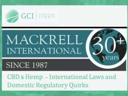 Sister law network, Mackrell International, hosts panel-led discussion at the Global Cannabis Intelligence Virtual Summit. Recording of event available NOW!