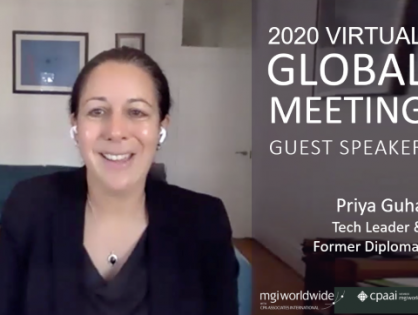Listen NOW to Tech Leader and Former Diplomat Priya Guha on 'Leadership and Managing Uncertainty in the COVID World and Beyond'