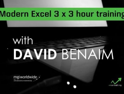 Our first Excel Training Programme finishes on high with more dates available in the new year from Microsoft trainer and tech expert David Benaim