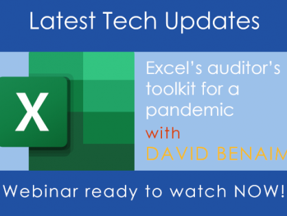 Watch MGI Worldwide CPAAI's latest #tech-on-tuesdays webinar where David Benaim takes a look at modern Excel and how it can be used by auditors
