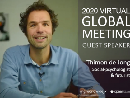 How do we see the world after the pandemic? Social Psychologist and Futurist Thimon de Jong explores how COVID19 is impacting human behaviour