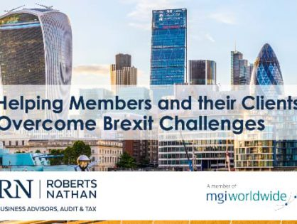 Are your Clients facing complex cross-border issues in the wake of Brexit? Our Member Firm Roberts Nathan in Ireland can help