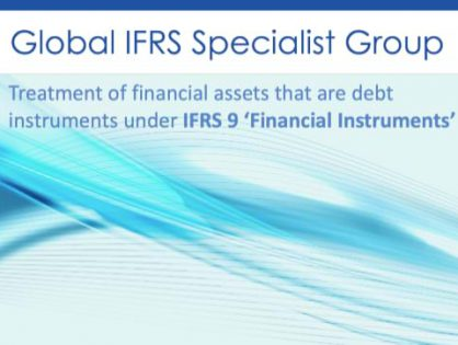 Global IFRS Group reports on the Treatment of financial assets that are debt instruments under IFRS 9 'Financial Instruments'