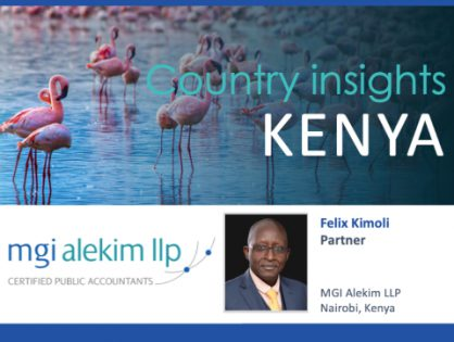 Don't miss the latest Country insights from Felix Kimoli talking about recent developments in the Kenya accounting market and the impact of the global pandemic