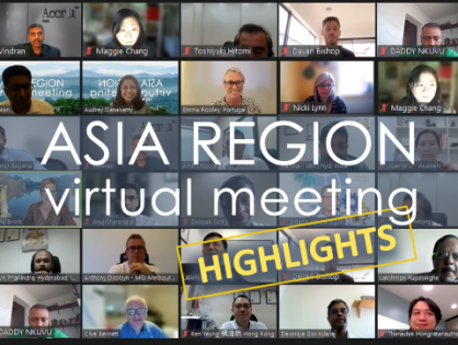 How do you survive & thrive in these unprecedented times? The Asia Region virtual meeting considers and discusses