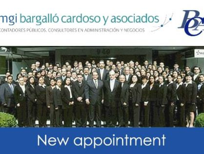 Mexico City's MGI Bargalló Cardoso y Asociados continues to grow, announcing the appointment of a new partner
