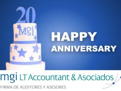 A BIG MGI Worldwide congratulations to MGI LT Accountant & Asociados Asesores y Auditores, as they proudly celebrate their 20th anniversary