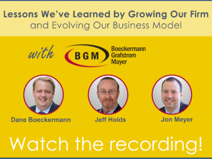 Inspiring stories for members by members: Lessons We've Learned by Growing Our Firm and Evolving Our Business Model by MGI North America's BGM